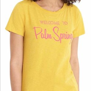J Crew Palm Springs Cotton Tee Shirt